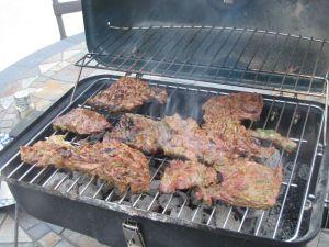 carne asada cooking 5-16-12