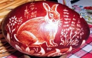 pisanki-wydrapywane-2 rabbit skrobanie